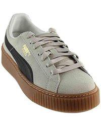 520f0e20967697 Lyst - Puma Basket Platform Core Sneakers in White