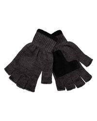Levi's Knit Fingerless Gloves - Gray