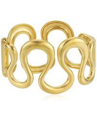 """Trina Turk - """"gold Rush Wavy Metal Cuff Bracelet - Lyst"""