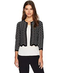 3220a87f8e8c5e Lyst - Ted Baker Wrap Cardigan in Black