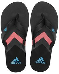 98a6bb43c38f9 adidas Synthetic Eezay Essence Thong Sandal in Black for Men - Lyst