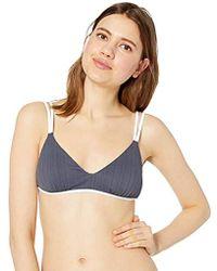 242d02b41c7 Lyst - RVCA Linear Ribbed Bralette Bikini Top