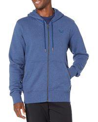 Peak Velocity Heavyweight Fleece Full-zip Athletic-fit - Blue