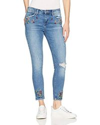 Lucky Brand - Mid Rise Embroidered Ava Skinny Jean In Macedonia - Lyst