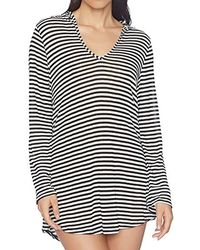e0a33e6420 Lyst - Splendid Terry Hooded Tunic Swimsuit Coverup in Blue