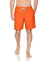 """Amazon Essentials - Quick-dry Solid 9"""" Swim Trunk, Orange, Xx-large - Lyst"""