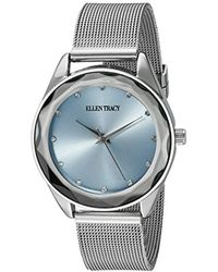 Ellen Tracy - Quartz Metal And Alloy Watch, Color:silver-toned (model: Et5180sllb) - Lyst