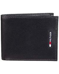 dc6d5ddc Tommy Hilfiger Duffy Rfid Leather Passcase Wallet in Black for Men - Lyst
