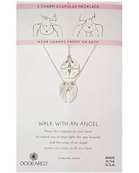 Dogeared - Silver Angel Scapular Chain Necklace - Lyst