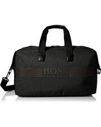 BOSS Pixel Nylon Weekender Bag - Black