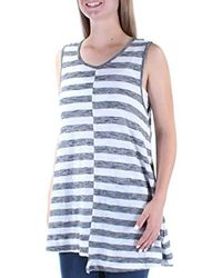 Two By Vince Camuto S/l Bold Stripe Mismatched Swing Tank - Multicolor