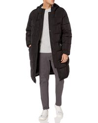 Vince Camuto Long Insulated Warm Winter Coat Parka - Black