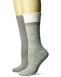 Steve Madden 2pk Boot Sock Sm42218 - Gray