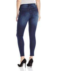 Kensie Stretch Ankle Biter Jeans - Blue