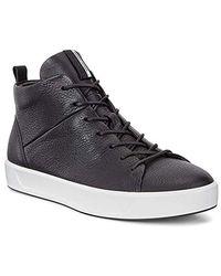 Ecco Soft 8 High-top Fashion Sneaker - Black