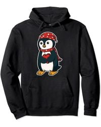 Original Penguin Penguin With Winter Hat For A Nice Party Pullover Hoodie - Black