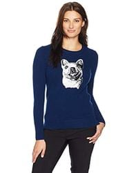 Lark & Ro - Sweaters French Bulldog Sequin Cashmere Sweater - Lyst