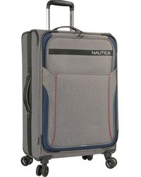 """Nautica 28"""" Expandable Spinner Luggage - Gray"""