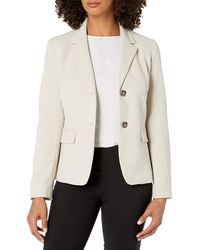 Nine West 2 Button Notch Collar Crepe Jacket - Multicolor