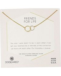 Dogeared - S Friends For Life, Two Mixed Metal Linked Rings Necklace - Lyst