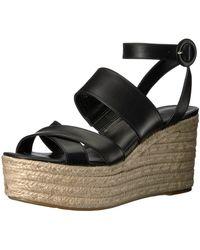 Nine West Kushala Wedge Sandal - Black