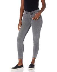 Buffalo David Bitton Luxe Mid Rise Skinny Jeans - Gray