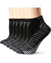 Skechers 6 Pack Low Cut Socks - Black