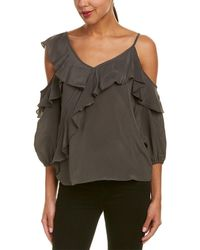 Bailey 44 Unforgettable Ruffle Top - Gray