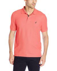Nautica Performance Pique Polo Shirt - Pink
