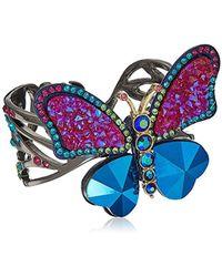 Betsey Johnson - Butterfly Colorful Butterfly Cuff Bracelet - Lyst