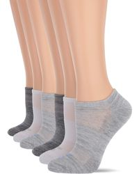 Skechers 6 Pack No Show Liners - Gray