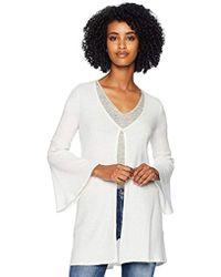 Three Dots - Qq7423 Brushed Sweater Cardigan - Lyst