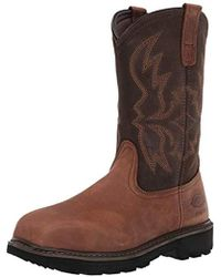 Dickies Stockyard Pull On Steel Toe Eh Construction Boot - Brown