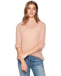 f73663cb1690cd Vero Moda - Cecily Long Sleeve High Neck Open Knit Top - Lyst