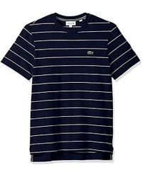 Lacoste - Short Sleeve Heritage France Stripe Waffle Reg Fit T-shirt, Th3218 - Lyst