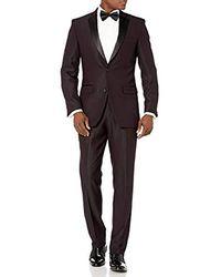 Perry Ellis Slim Fit Stretch Wrinkle-resistant Tuxedo - Multicolor