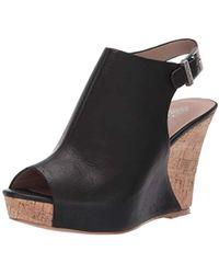 Charles David Lobby Slingback Wedge Sandal - Black