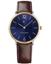 Tommy Hilfiger Sophisticated Sport Stainless Steel Quartz Watch With Leather Strap - Blue