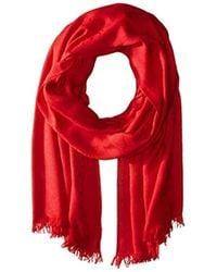 Calvin Klein Logo Pashmina Scarf - Red