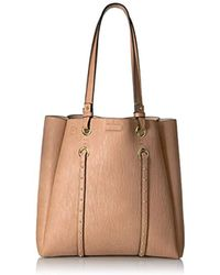 Calvin Klein - Cora Bubble Lamb Novelty North/south Tote - Lyst