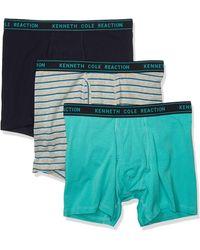 Kenneth Cole Reaction Cotton Stretch Boxer Brief Underwear - Multicolor