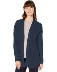 Amazon Essentials Cable Open-Front Sweater Pullover - Bleu
