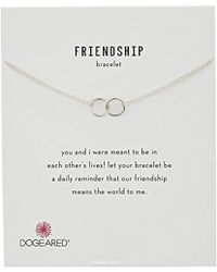 "Dogeared - It's Personal Friendship Double-linked Rings Chain Bracelet, 6""+1"" Extender - Lyst"