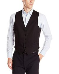 Perry Ellis Slim Fit Suit Separate (blazer, Pant, And Vest) - Black