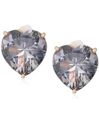 T Tahari - Uptown Jewels Rsg Bdi Heart Stud Clip-on Earrings, Color Rose Gold, One Size - Lyst