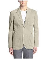 Hardy Amies 2 Button Moleskin Sportcoat - Natural