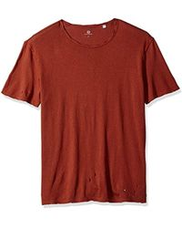 AG Jeans Ramsey Short Sleeve Crew Neck Tee - Red