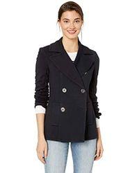 Bailey 44 Windjammer Double Breasted Ponte Pea Coat Jacket - Blue