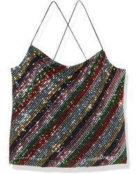 MILLY Gia Cowel Neck Cami - Multicolor