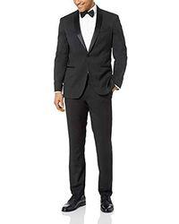 Kenneth Cole Reaction Satin Lapel Tuxedo - Black